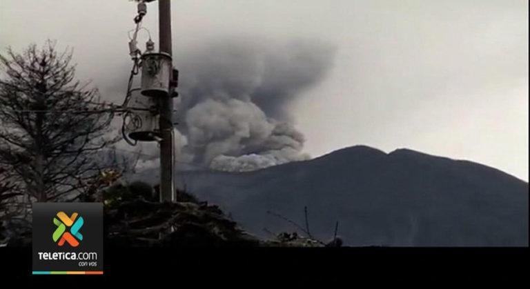 Turrialba Volcano Continues Constant Eruptive Activity