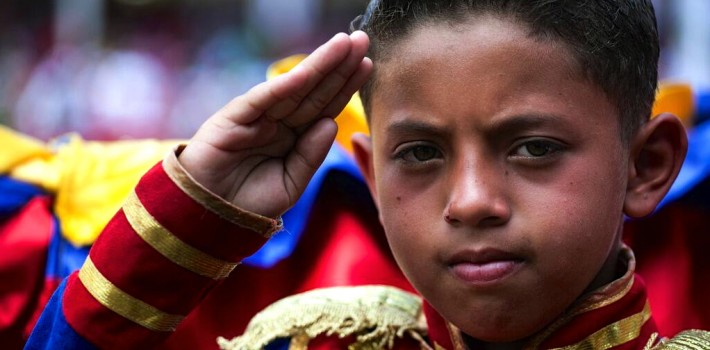 Venezuela's economy is collapsing, but the march towards a revolutionary socialist nation continues. (@XHNews)
