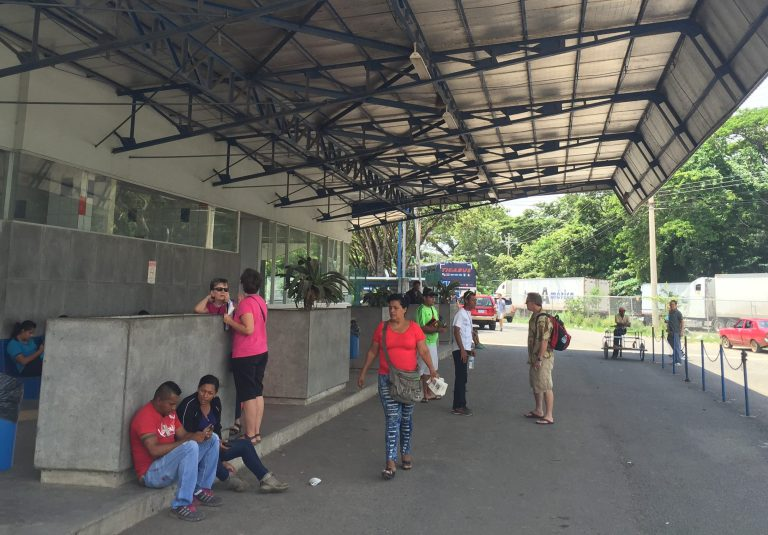 Costa Rican Customs at Peñas Blancas, outside of the exit office (east side of building)