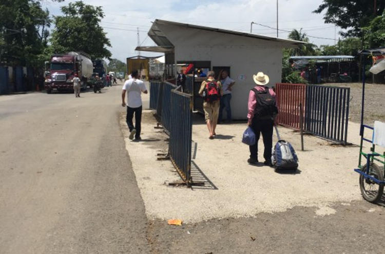 After getting your passport stamped, head towards the Nicaraguan border on the Pan American Highway. Show your passport here to the Costa Rican border police before moving on.