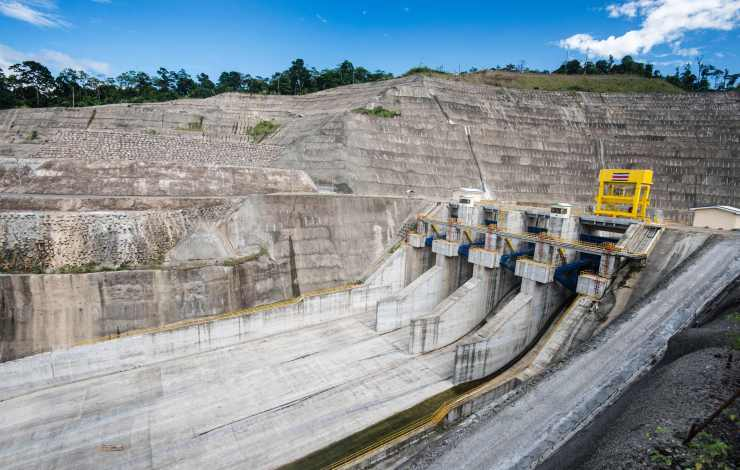 View of the hydroelectric dam on Costa Rica's Reventazon River. It was inaugurated last month.AFP/Getty Images