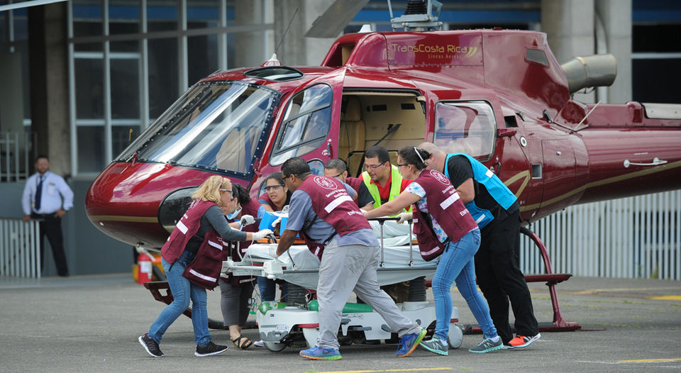 The Hospital Mexico's trauma centre had scheduled a training session