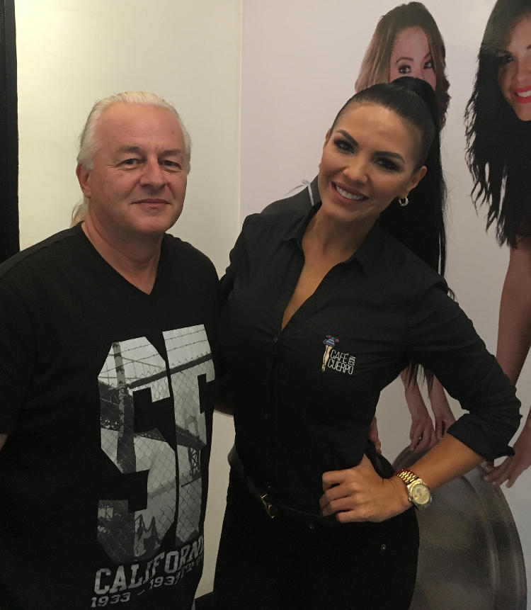 Marcela took the time for a phot op with me. No, the camera did not break!