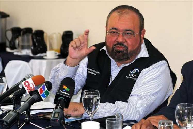 President of the Supreme Electoral Council (CSE), Roberto Rivas
