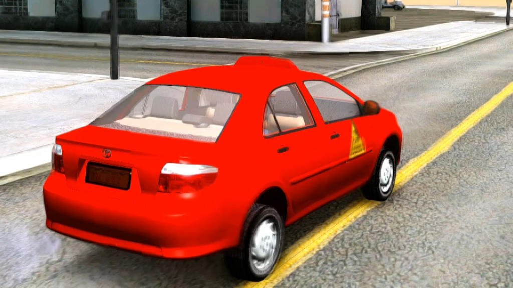 Legal taxis in Costa Rica are red. (The orange taxis are exclusive to the international airport)
