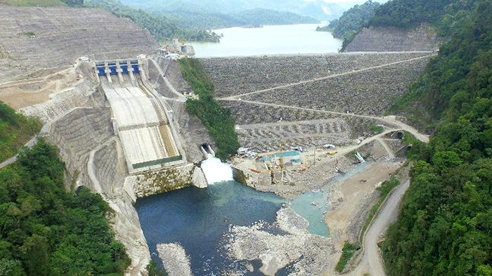 The 305.5-MW Reventazon hydroelectric plant on the Reventazon River, located in the Limon province of Costa Rica.