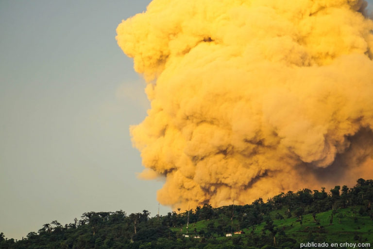The Golden Cloud of Ash Of The Turrialba Volcano