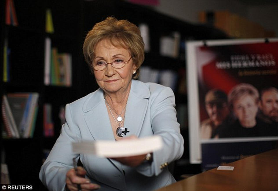 Juanita Castro (pictured in 2009), sister of dictator Fidel Castro who died on Friday at age 90, said she will not be attending her brother's funeral in Cuba