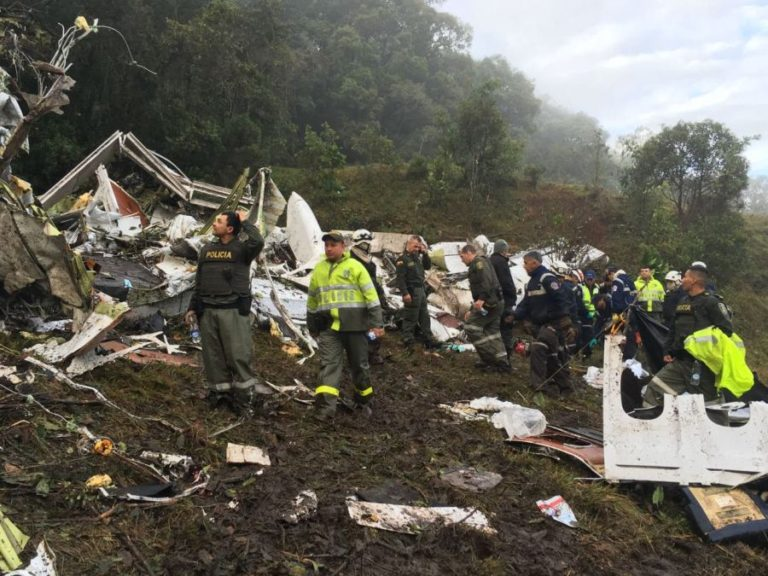 Plane taking Brazilian soccer team to cup final crashes in Colombia, 72 dead