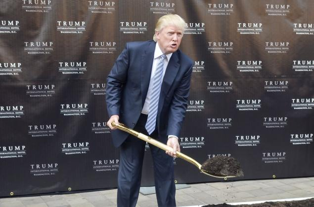 Trump broke ground on the renovation before he entered the presidential race