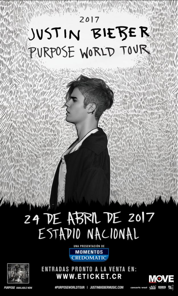 Justin Bieber Adds Costa Rica To 'Purpose World Tour' Dates