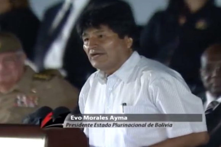 Fidel and Cuba changed the world: now, as long as there is a socialist person standing and fighting, Fidel will be forever among us, Morales said in the posthumous tribute to the leader, at the Revolution Square in Havana.