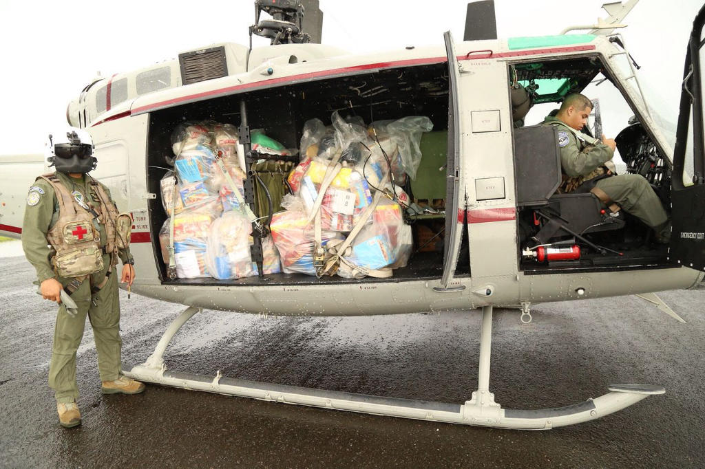 The United States has sent three helicopters and crew to aid in relief efforts