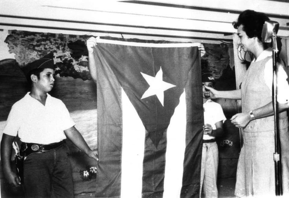 uanita Castro, exiled sister of Fidel Castro, attends a patriotic event at the Florida City camp, home to Cuban boys from Operation Pedro Pan in this file photo. Operation Pedro Pan Archives Courtesy of Barry University