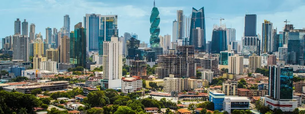 Panama City, the capital of Panama, is a modern city framed by the Pacific Ocean and man-made Panama Canal.