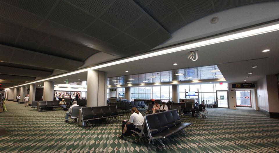 Departure gate at the Juan Santamaria (San Jose) airport.