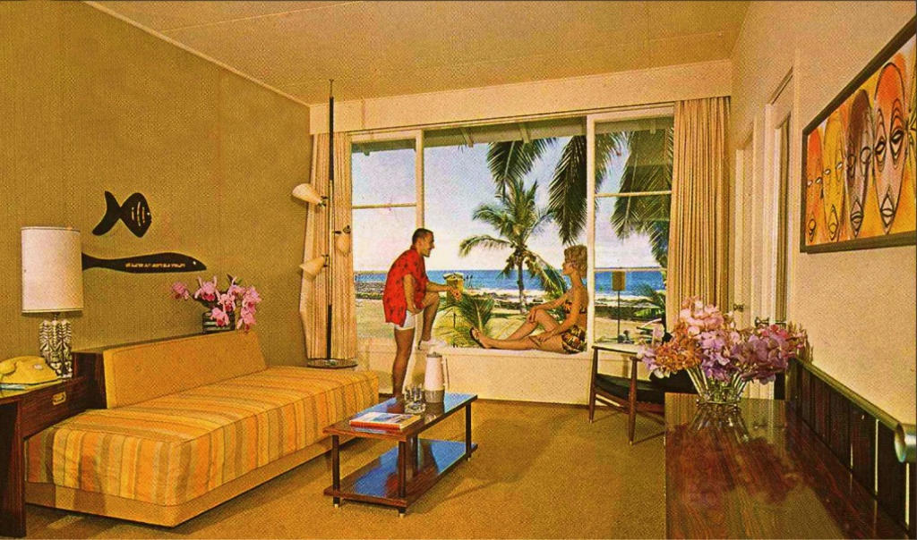 Photo:  Kona Inn guest room 1960s from 1950s unlimited