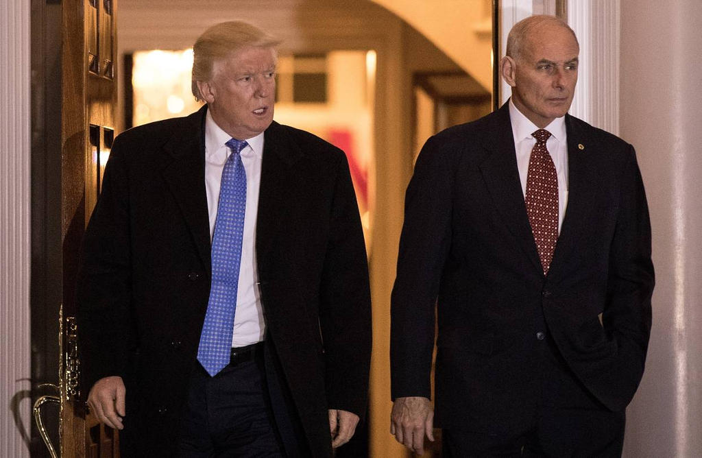 President-elect Donald Trump met with retired Marine Corps Gen. John Kelly. Photo from Washington Post