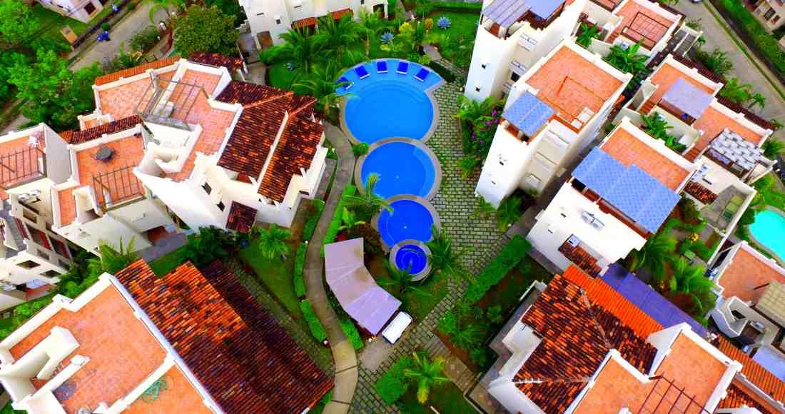 Aerial picture of Coco Sunset Hill condos, in Playas del Coco. Carlos Barrera