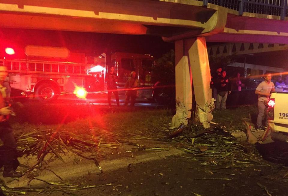 During the emergency, Monday night around 11:00pm, on the ruta 27, in Rio Oro de Santa Ana