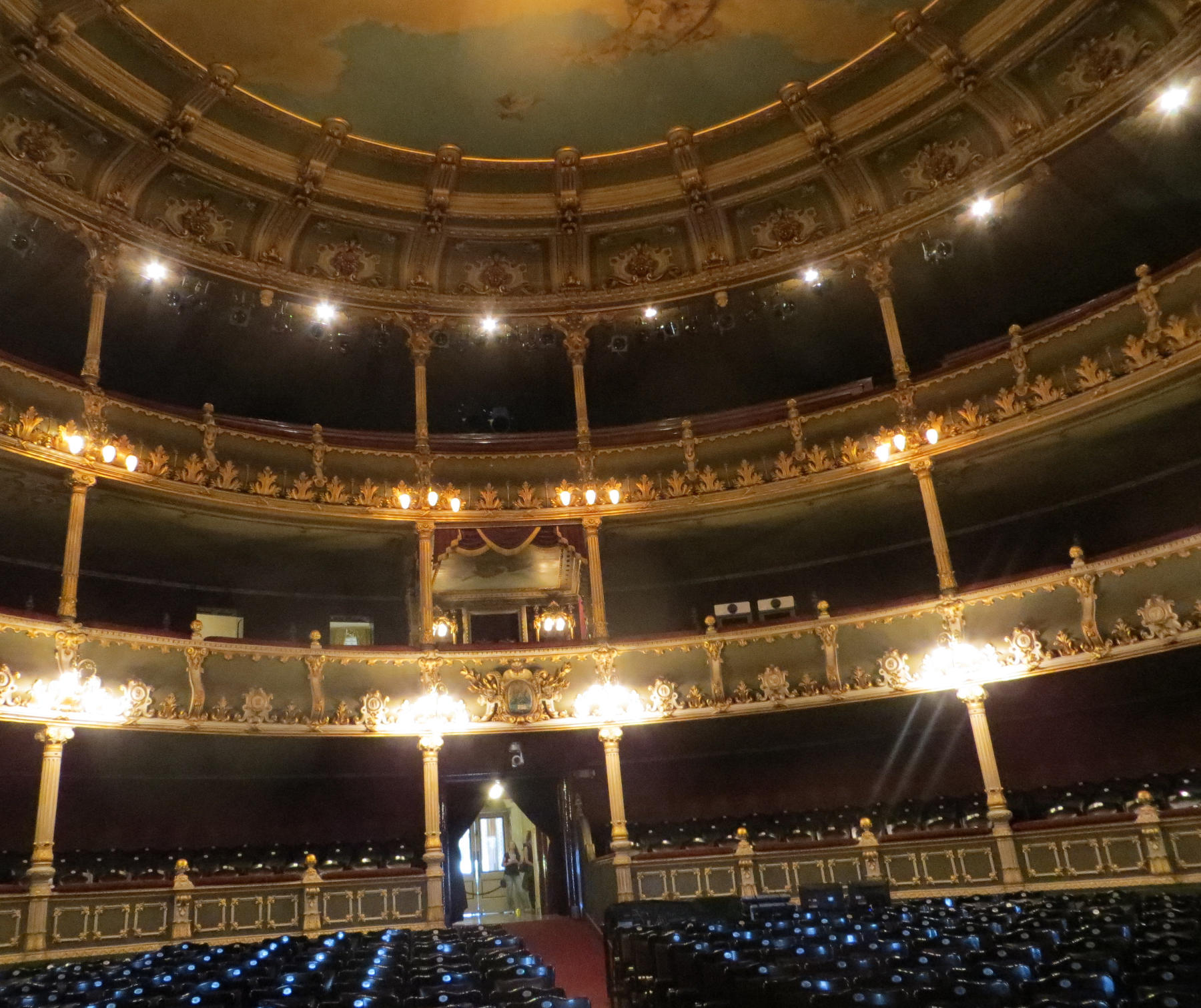 The auditorium is designed in the classical horse-shoe shape, so that virtually every seat has a great view.