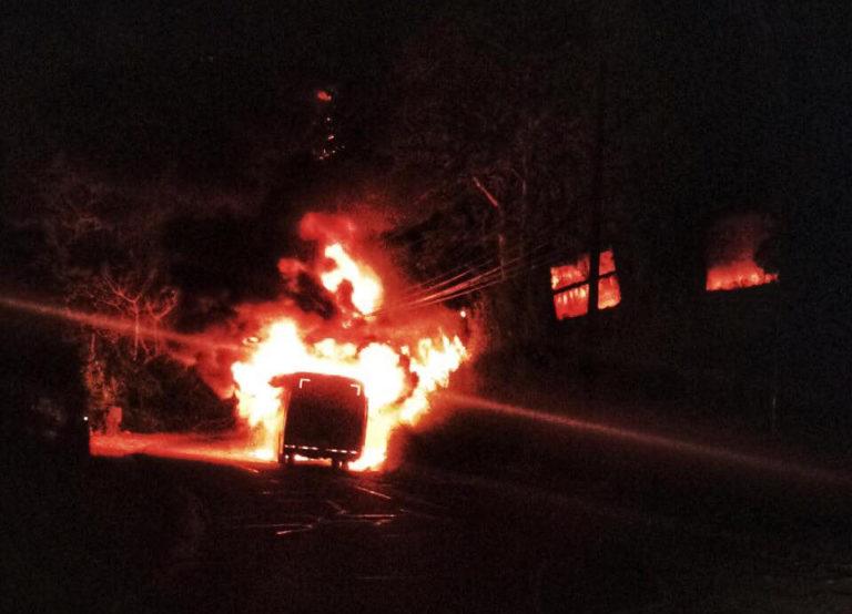 15 Passengers Unhurt in Santa Ana Bus Fire
