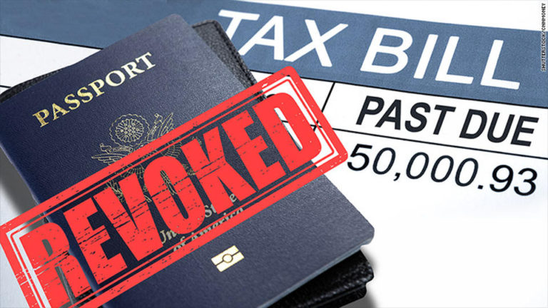 U.S. Citizens Who Owe The IRS Money May Have Their Passport Revoked or Denied Renewal