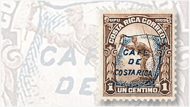 How Costa Rica Used Overprint On 1922 Stamps To Promote Its Coffee
