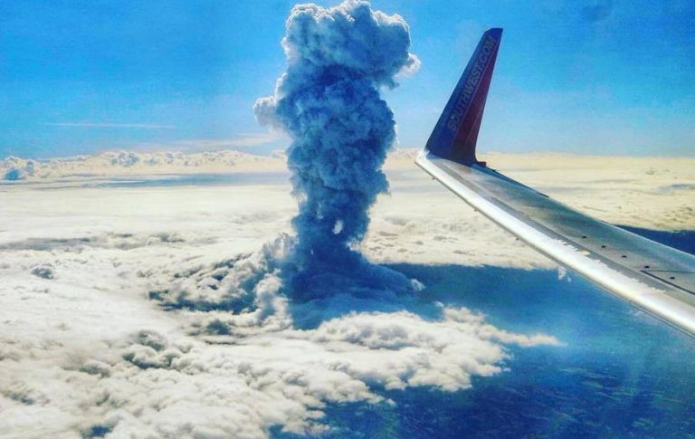 The Poas Volcano Eruption From Above