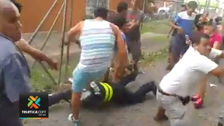 Mob Turns Violent Againt Police At End Of Soccer Game in San Carlos