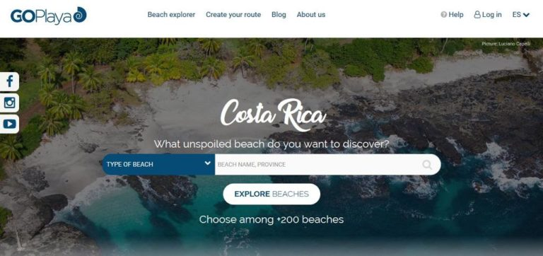 Website/App Helps User Find The Best Beach In Costa Rica For Vacation