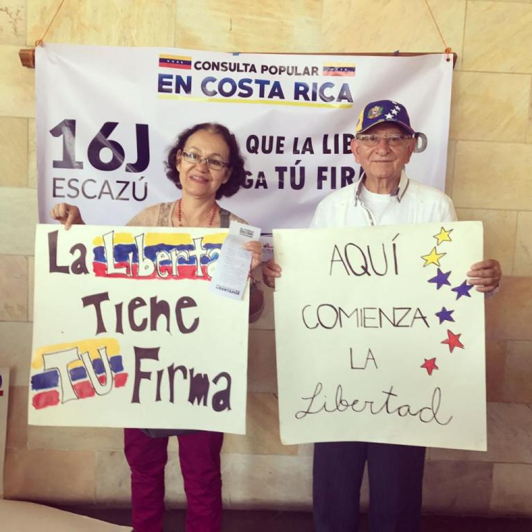Venezuelans in Costa Rica Gave A Resounding NO To The Constituent Assembly of Nicolas Maduro