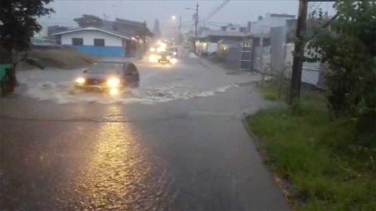 Heavy Rains Flood Downtown San Jose; Landslide In Desamparados