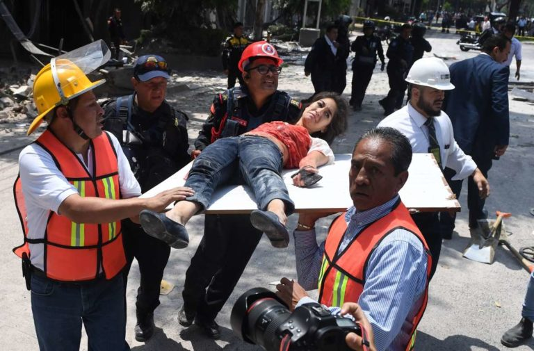 7.1 Quake Kills And Crumbles Buildings in Mexico