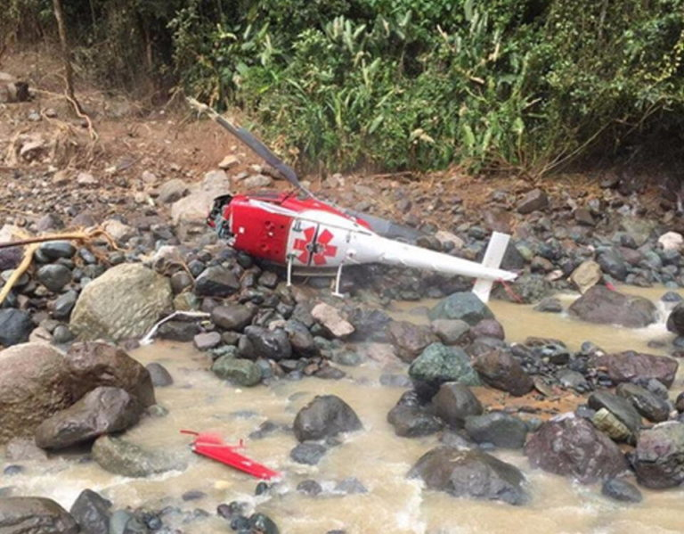Rescue Helicopter Crashes In Savegre River