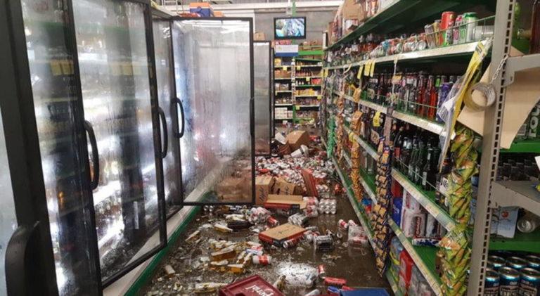 Sunday Night's Earthquake Shakes and Rattles Jaco Supermarket