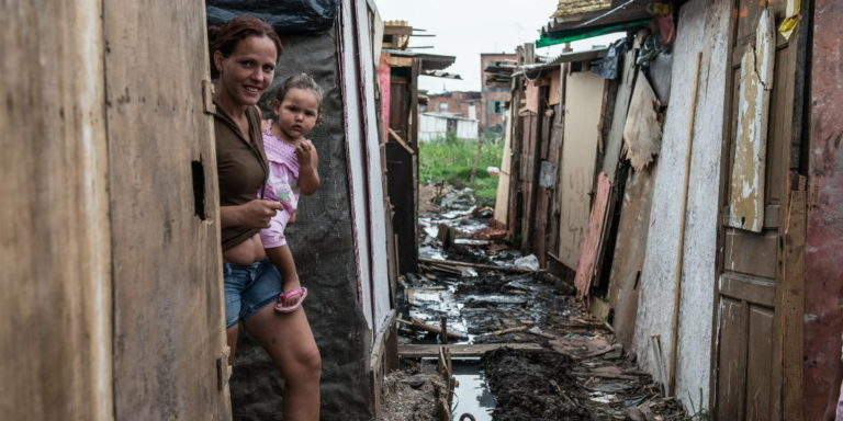 An estimated third of the Brazilian population live below the poverty line