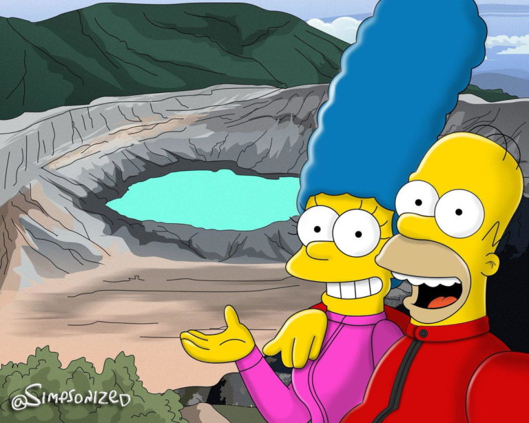 Homer Takes Marge To Poas, Canopies La Fortuna With Bart