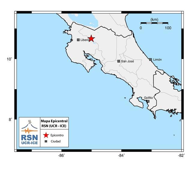 4.8 Earthquake Shakes Costa Rica Tuesday Night