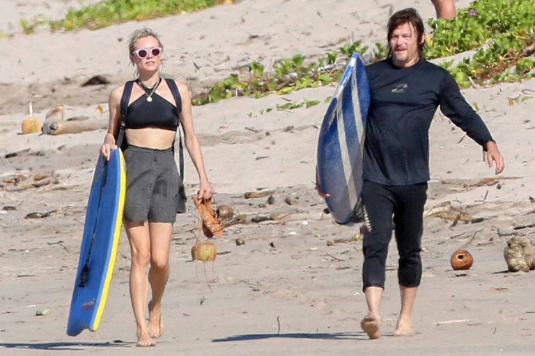 Diane Kruger and Norman Reedus Hang Out in Costa Rica