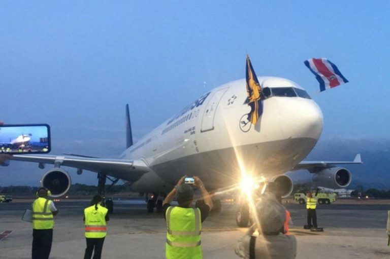 Lufthansa Lands in Costa Rica For The First Time