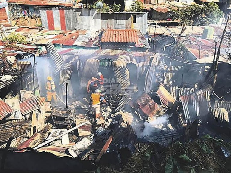 Firefighters Prevent Barrio From Burning To Ashes