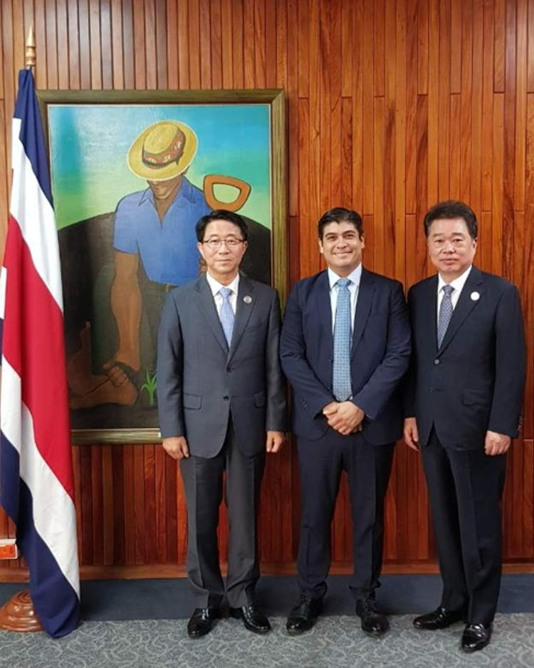 Korean Envoy Visits Costa Rica's New President
