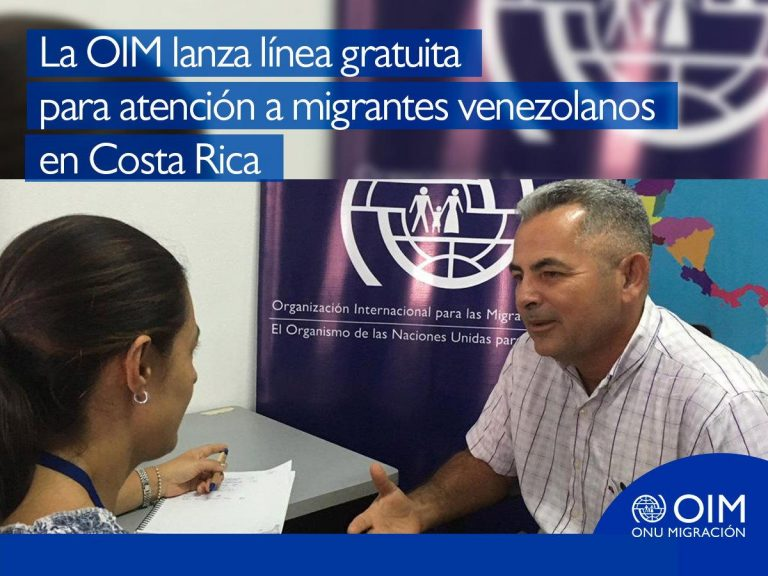 UN Migration Agency Launches Toll-Free Number for Venezuelans in Costa Rica