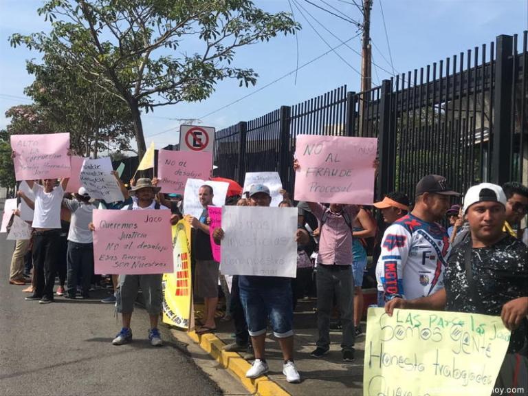 President Carlos Alvarado Faces His First Protest