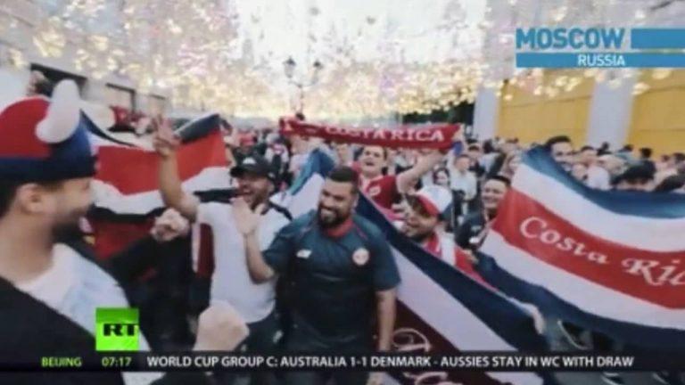 Ticos in Moscow Seen on Russia Today World News, Russia World Cup 2018 (Video)