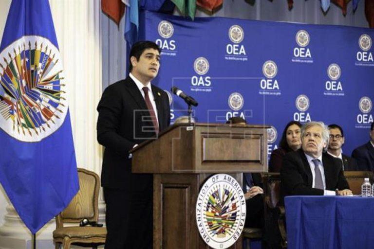 Costa Rica President Emphasizes Seriousness of Nicaragua Crisis to OAS