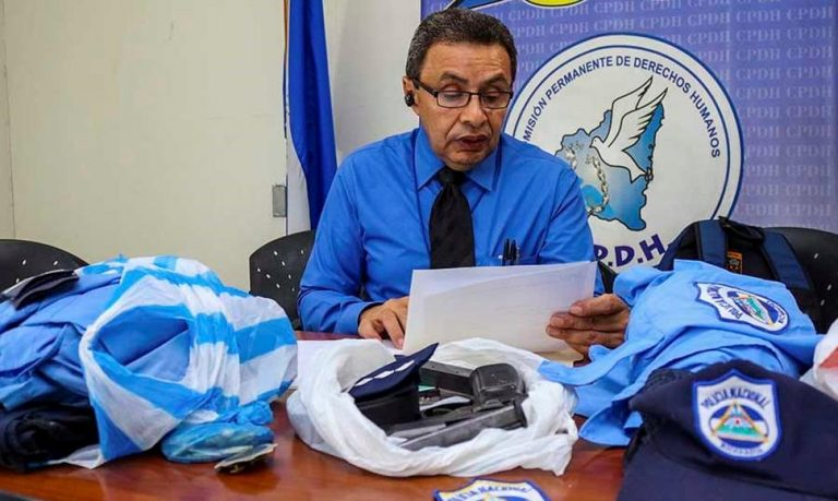 Nicaragua Police Officers Desert and Hand Over Uniforms