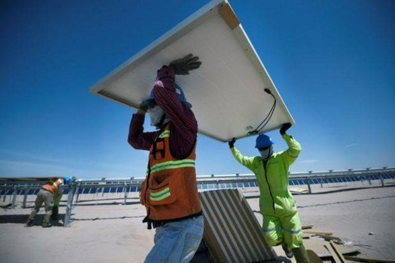 Latin America's largest solar park turns Mexican desert green