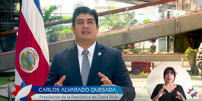 Carlos Alvarado assures that Costa Rica has the necessary resources to guarantee a safe and orderly immigration control